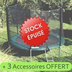 Trampoline 370cm (Taille L) et 3 accessoires offert hors stock